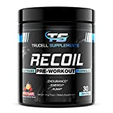 Trucell Supplements Recoil Pre-Workout - Energy & Endurance Supplement with Beta Alanine, Creatine HCI, & L-Arginine (Fruit Punch, 30 Servings)