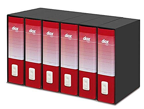 Rexel Dox Aktenordner DIN A4, 6 Stück rot