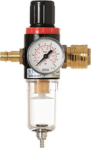Steck-Druckminderer mit Partikelfilter und Wasserabscheider inkl. halbautomatischen Entwässerung von IMPLOTEX