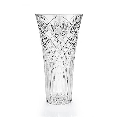 RCR Vaso 25616020006 Jarrón Decorativo de Cristal Melodia de 30 cm, centros de Flores y displays, portavelas,...