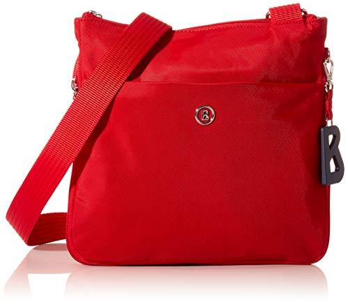 Bogner Damen Verbier Serena Shoulderbag Mvz Schultertasche, Rot (Red), 7x24x25 cm