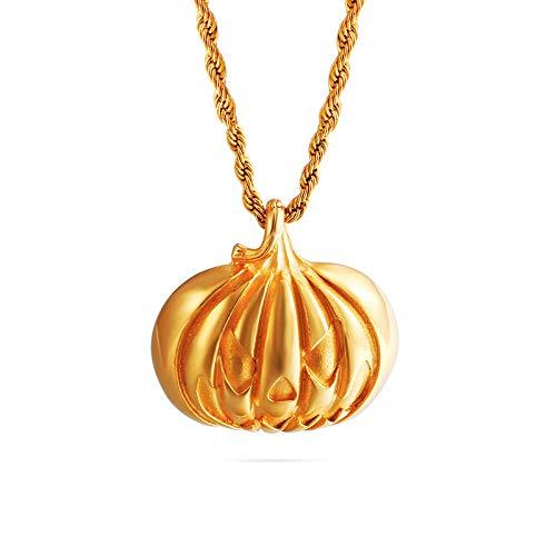 Halloween Kürbis Anhänger handgefertigt DIY Titan Stahl Schmuck Zubehör nur Gold Anhänger Preis