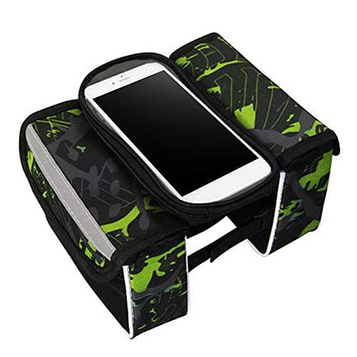 Bolsas de Bicicleta, Weytoll Bolsa de Sillín de Bicicleta Bolsa de Tubo Superior de ciclismo Bolsa de protección de teléfono de PVC Transparente impermeable para Ciclistas