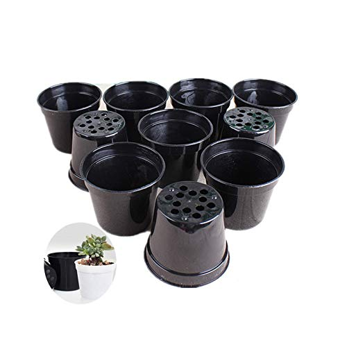 Round Succulents Plant Pots Drainage Hole, Set of 40 Mini Plant Pots 2.5' Wx2.25 H,Perfect for Plant Seeds,Seedling Nursery Transplanting Planter Container(Black)