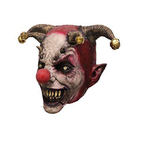 Hengyutoy Mask Costume da Clown di Halloween Jingle Bell Joker Maschera in Lattice