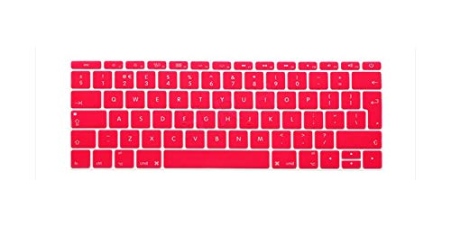 Euro EU Layout English Keyboard Cover Skin for New For Macbook For Mac Pro 13' A1708 Non Touch Bar (2016 2017 Version, No Touch Bar)-Pink-