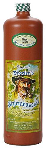 (22,95€/L) Drexler's Regenwasser'l | Obstspirituose aus Äpfeln, Zwetschgen und Williamsbirne | 1l. Tonkrug