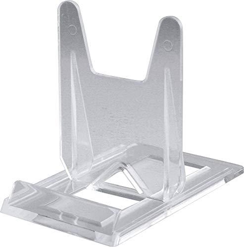 Home Xpert Telleraufsteller, Tellerständer, Tellerhalter, transparent, 6 cm breit, 10 cm tief, 8 cm hoch, für Teller von Ø 9 bis 27 cm