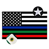 """👍【Embroidered】- This blue green red line flag is DOUBLE SIDED High quality embroidered flag,unlike so many flags which just have """"printed-on"""" coloring or script, this flag has real texture and depth 👍【Very Well Made】- The blue green red stripe flag i..."""