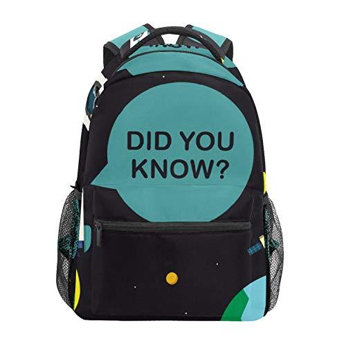Raumfahrer und Raumschiff Enzyklopädie Schulrucksack Große Kapazität Canvas Rucksack Satchel Casual Travel Daypack für Kinder Erwachsene Teenager Damen Herren