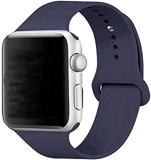 Silikon Klockarmband Apple Watch, 38/40mm, Marinblå