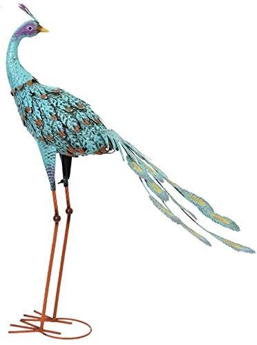 PANGPANGDEDIAN Dekoration Garten Pfau Statue, dekorative Vogel Tier Schmuck Skulptur Eisen Pfau Kunst Desktop Dekoration Balkon Garten Kreative Neuheit Dekoration (Size : B)