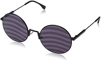 Fendi Waves Purple Stripes Round Ladies Sunglasses (FF 0248/S B3V/XL 53)