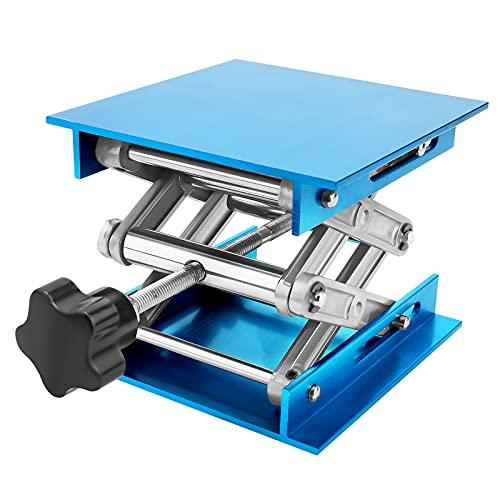 LQKYWNA 8x8 / 6x6 / 4x4 Carga máxima 10-25KG Lab Alumina elevación Mesa de Laboratorio Tijeras Jacks para Instrumento química de elevación Apoyando (6INCH)