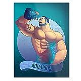 Aquarius Gay Zodiac Art I Gay - Póster a la moda para la decoración de la casa del arte de pared