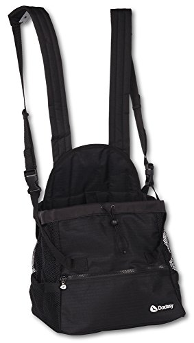 Doxtasy Bauchtragetasche für Hunde bis 9kg, Schwarz, Größe M