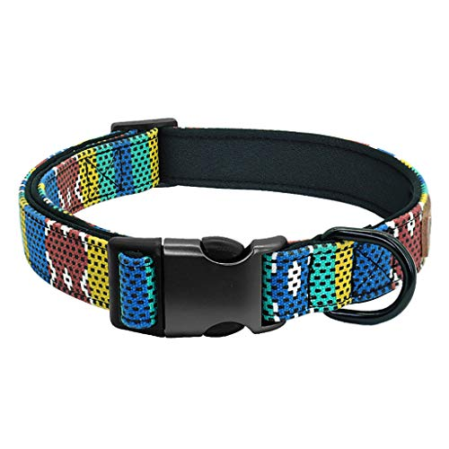 Collar halsband voor honden, hangers met naam en telefoonnummer, L, Blauw