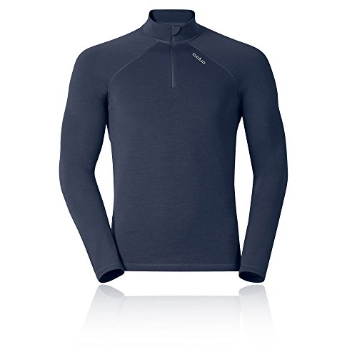 Odlo T-Shirt L/S col roulé pour 1/2 Zip Révolution Maillots LG Corps. Bracelet he/uni L Navy New Melange