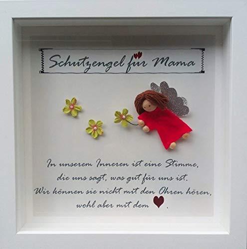 Personalisiertes Bild 3 D handmade Schutzengel für Mama, Name personalisierbar