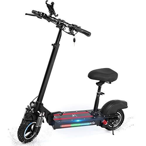 VPOW Elektroroller, Faltbarer E Scooter mit LCD-Display und Abmontierbarem Sitz, E-Roller mit starker Leistung von 600W, Max 25 km/h, 40km, Belastung 150kg, Elektro Scooter idealer Nahverkehr
