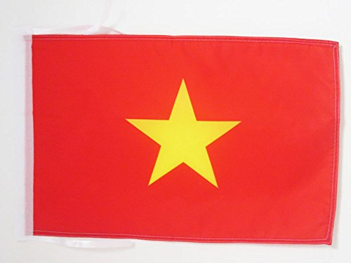 AZ FLAG Flagge Vietnam 45x30cm mit Kordel - VIETNAMESISCHE Fahne 30 x 45 cm - flaggen Top Qualität