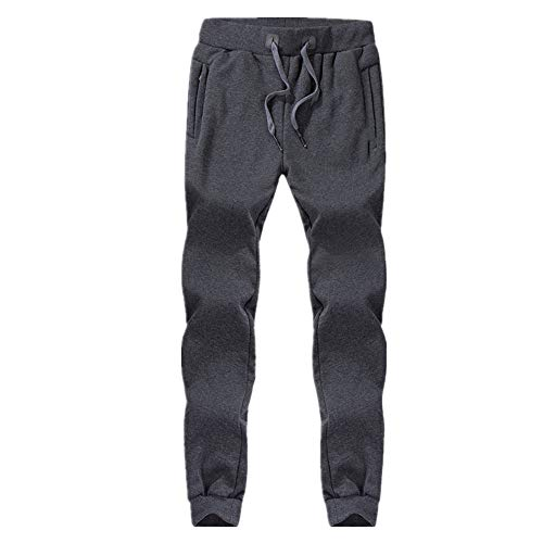 N\P Men Pants Warm Fleece Thicken Joggers Sweatpants Lace-Up Pants Wool Lining Outdoor Winter Snowy Day Trousers L-8XL
