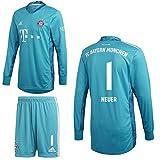 adidas FCB FC Bayern München Torwartkit Heim Torwartset 2020 2021 Kinder Neuer 1 Gr 152