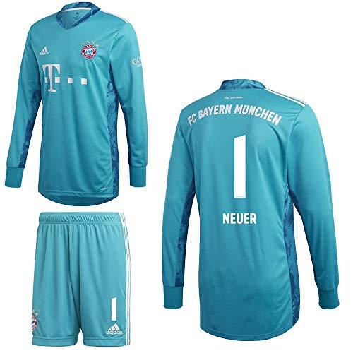 adidas FCB FC Bayern München Torwartkit Heim Torwartset 2020 2021 Kinder Neuer 1 Gr 140