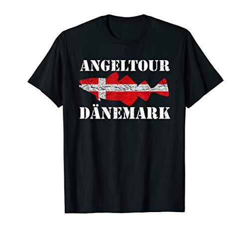 Vintage Angeltour Dänemark - Dorschangeln Langeland Angeln T-Shirt