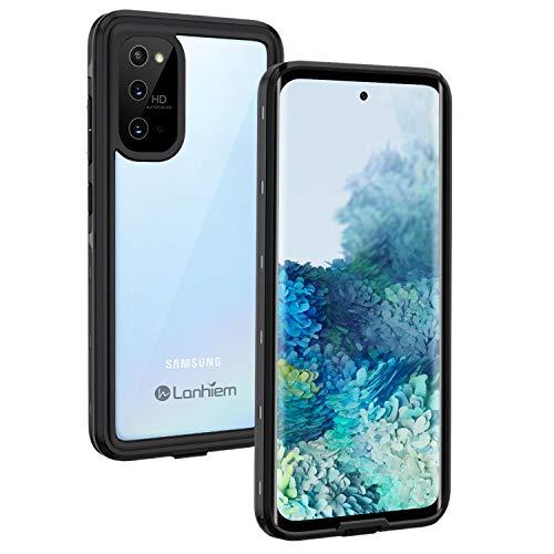 Lanhiem Samsung S20 hoesje, [compatibel met vingerafdruksensor] IP68 waterdicht stofdicht schokbestendig volledig lichaam verzegeld onderwater beschermhoes met ingebouwde scherm voor Samsung Galaxy S20 - zwart