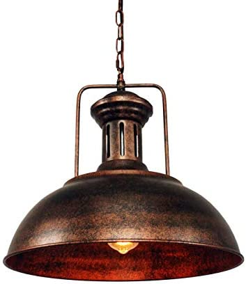 LMSOD Industrial Nautical Barn Pendant Light Single with Rustic Dome Bowl Shape Mounted Fixture product image