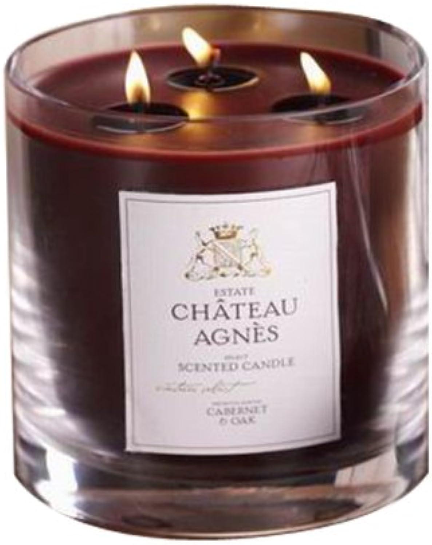 3 Wick Jar Candle, Cabernet & Oak Scent