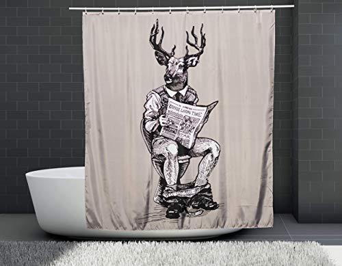 Oh Deer! | Duschvorhang | 180x200 cm | Wasserdicht | Anti-Schimmel | Einzigartiges Design | Pandafari