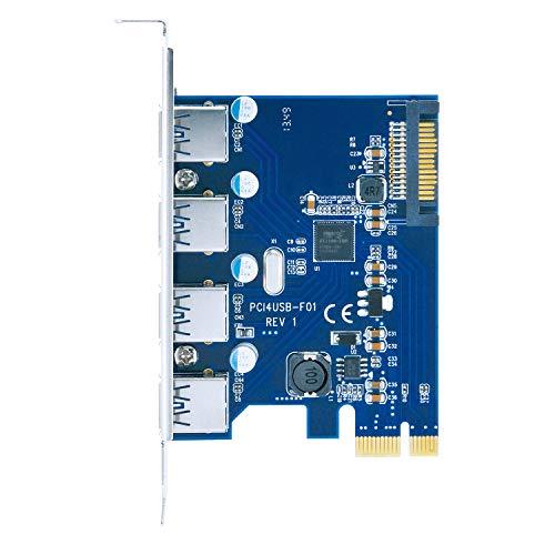 センチュリー ポートを増やしタイ USB3.0x4ポート PCI Express x1接続インターフェイスカード CIF-USB3P4FL