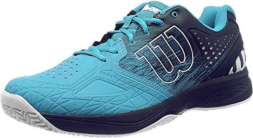 Wilson Kaos Comp 2.0, Zapatilla de Tenis para Todo Tipo de Terreno, tenistas de Cualquier Nivel para Hombre, Azul/Azul Claro/Blanco, 43 1/3 EU