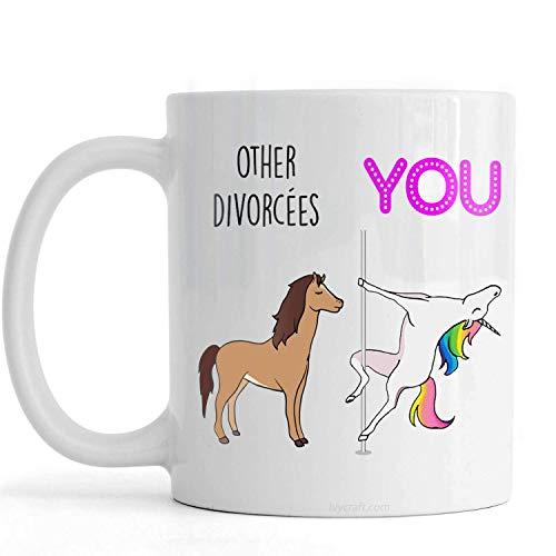 PassionWear regalos de divorcio para mujeres y hombres, taza de divorcio, regalo de mordaza de divorcio, regalo de divorcio divertido,