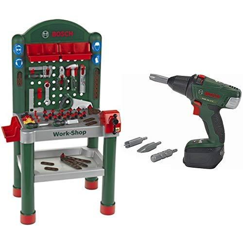 Theo Klein 8320 - Bosch Workshop, Spielzeug & Klein 8567 - Akku-Schrauber Bosch