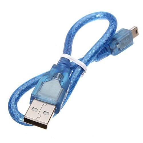 Cable de 30 cm de datos mini USB macho Printer impresora (Arduino...