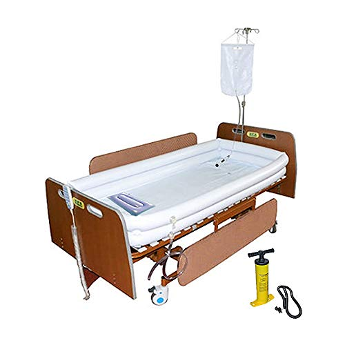 Inflatable Shower Bathtub System with Water Bag for Disabled, Elderly, Bath in Bed Assistive aid for Full Body Bathing