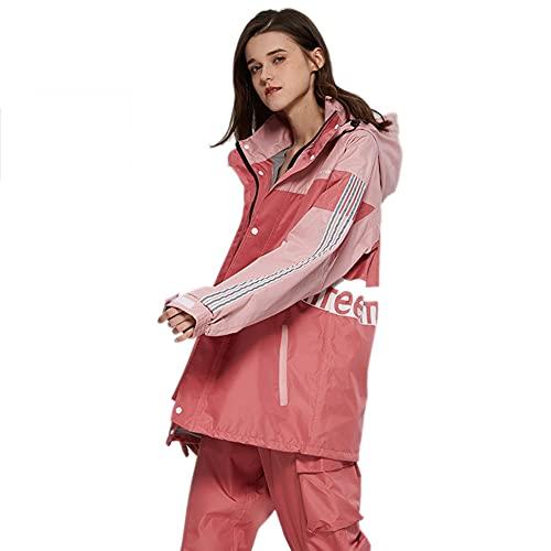 Regenanzug für Frauen Lederhandwerk wasserdichte Regenschutzjacke mit Hose Regenbekleidung Arbeitskleidung für Familienfischereireisen