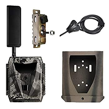 Spartan Ghost GoLive Verizon 4G LTE Live Stream Remote View Blackout IR Trail Camera with Steel Lock Box Python Locking Cable Heavy Duty Tree Mount and 10W 15in Solar Panel with Panel Cable