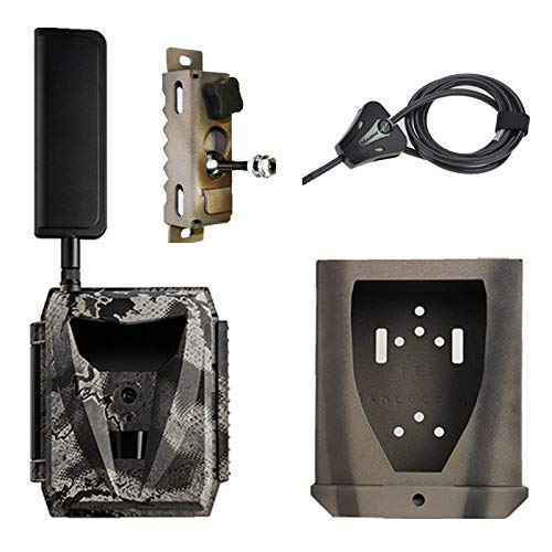 Spartan Ghost GoLive Verizon 4G LTE Live Stream Remote View Blackout IR Trail Camera with Steel Lock Box, Python Locking Cable, Heavy Duty Tree Mount and 10W 15in Solar Panel with Panel Cable