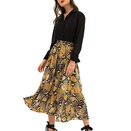 Vrouwen High Waisted Boho wikkelrok luipaardprint strand chiffon plooirok mode elegant prachtige streetwear