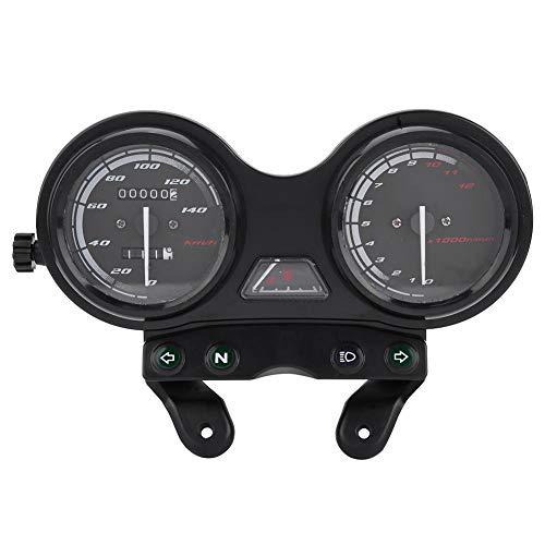 Qiilu CuentakilóMetros, VelocíMetro Y Medidor De Aceite, DC 12V Moto Moto 12000RPM LCD VelocíMetro para YBR 125
