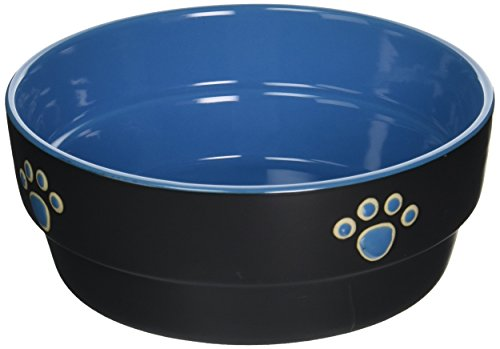 Ethical Pet Products (Spot) DSO6897 Fresco Stoneware Dog Dish, 7-Inch, Blue
