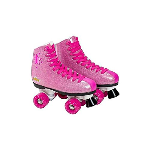 Muñecas Saica 6991 Roller laarzen Glitter, roze, maat 33