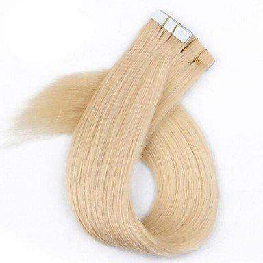 MZP 40pcs / paquet ruban cutile / PU / extension de cheveux de couleur de peau cheveux blonds avec brazilian cutile 2.5g par brin , 28 inch
