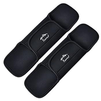 MEETOZ Lot de 2 coussinets antidérapants pour sangle d'épaule et ceinture pour sac à dos de sport