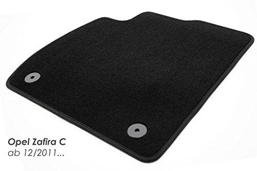 Fußmatte Fahrermatte einzeln Zafira C D Velour Automatte Fahrerseite vorn Links schwarz