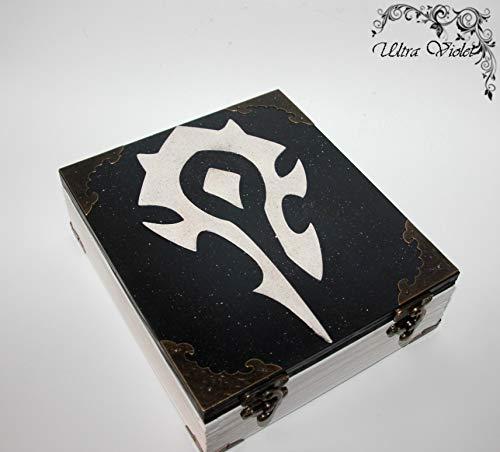 Exklusive Teebox-Wow horde, World of Warcraft, Tee, Tea, Teebeutel,Teekiste, wood